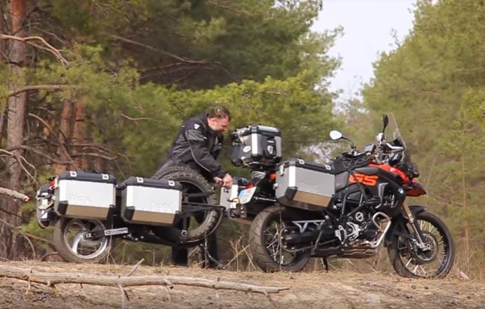 Adventure Motorcycle Trailer Static