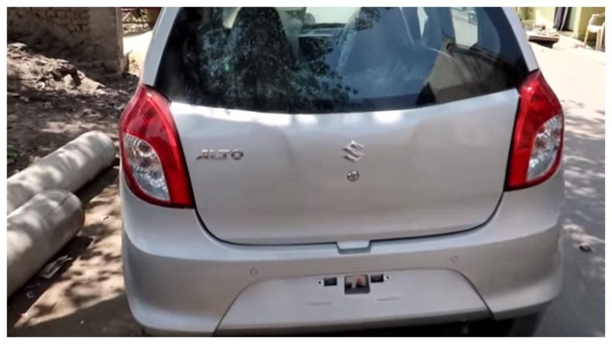Alto 800 facelift rear