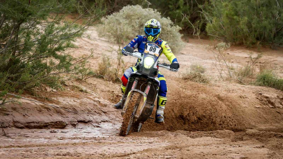 Aravind KP at stage 3 of Merzouga Rally
