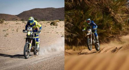 Aravind and Tanveer at stage 4 of Merzouga