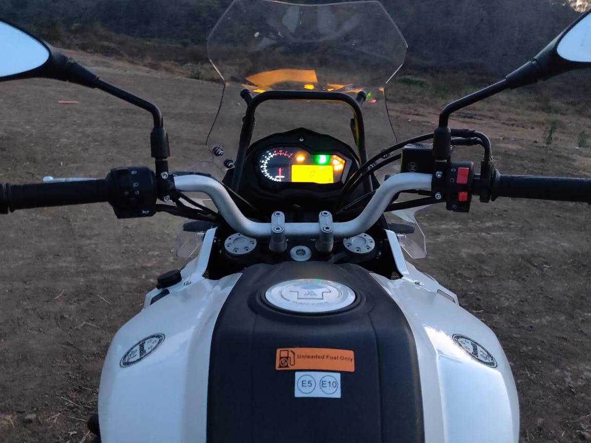 Benelli TRK 502 rider POV