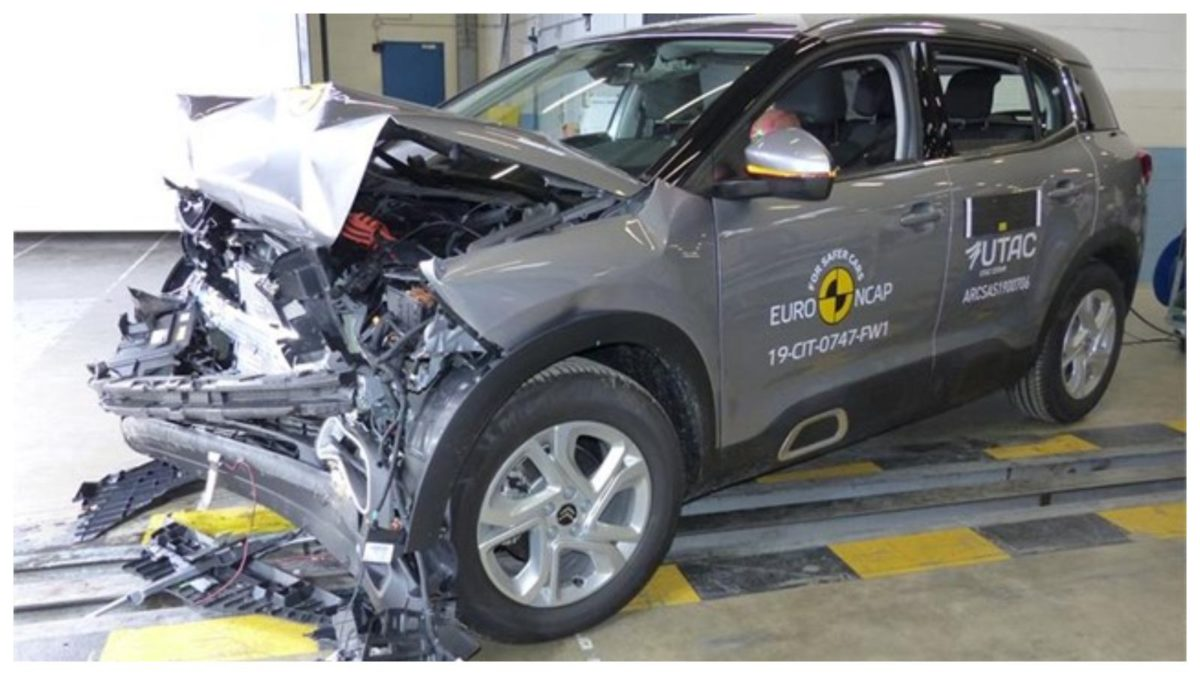 Citroen C5 Aircross Frontal crash impact