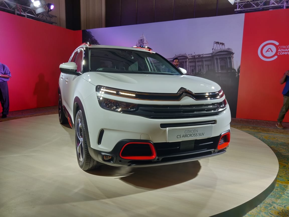 Citroen C5 Aircross India rear front