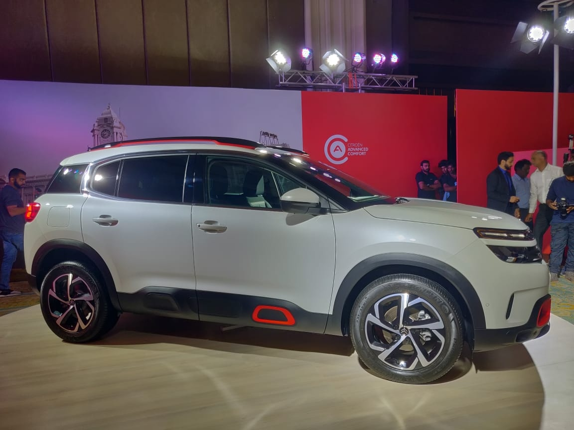 Citroen C5 Aircross India rear side profile