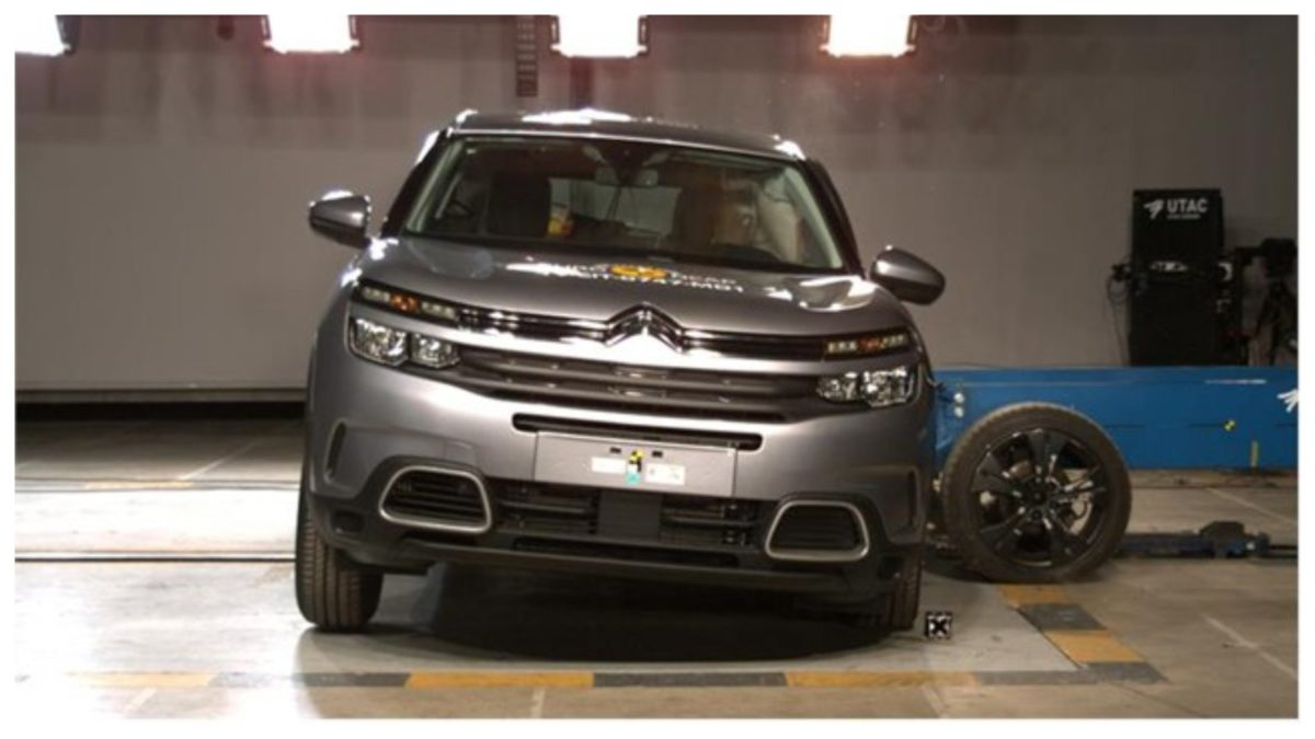 Citroen C5 Aircross side crash