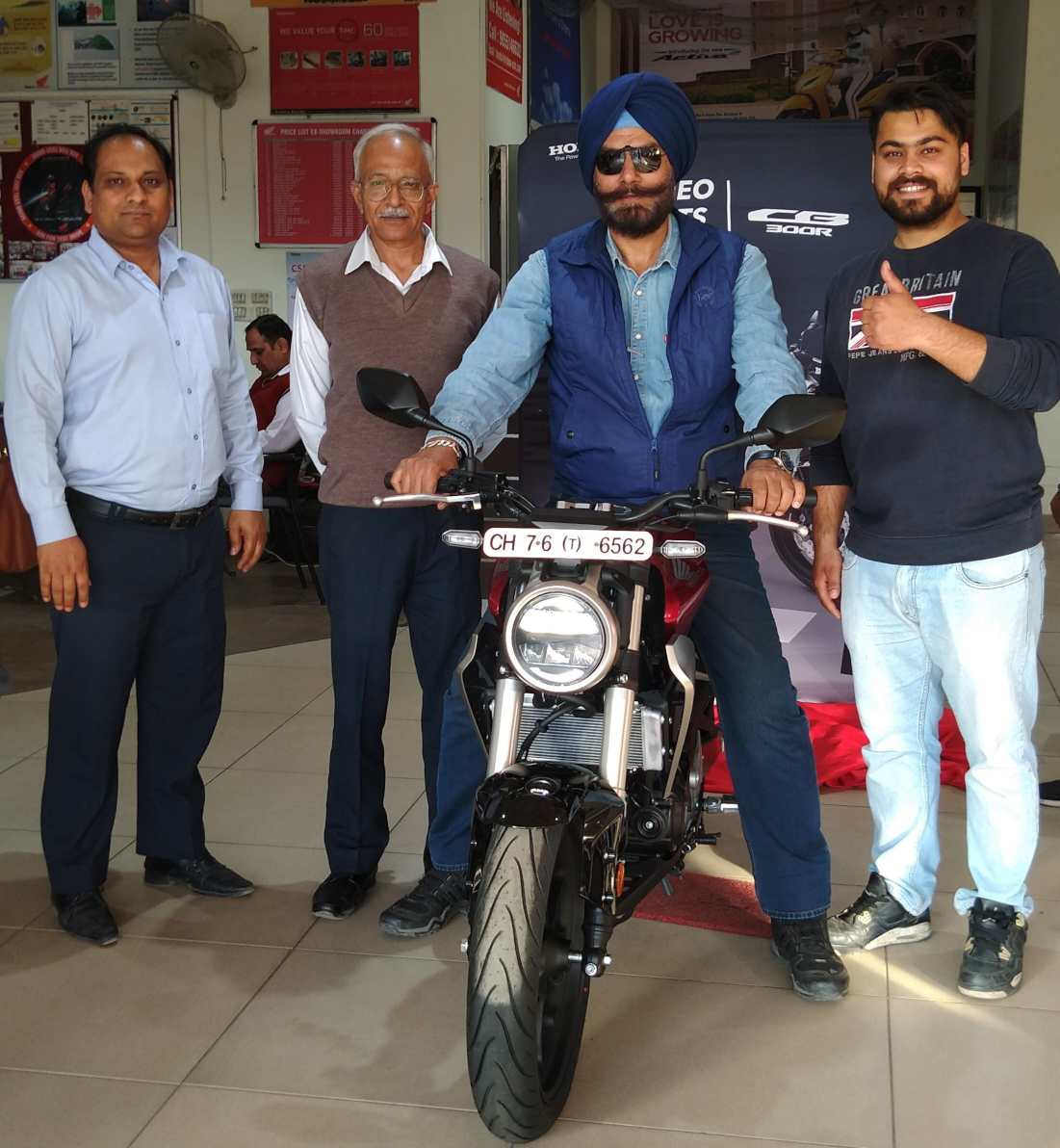 Honda CB300R delivered in Chandigarh