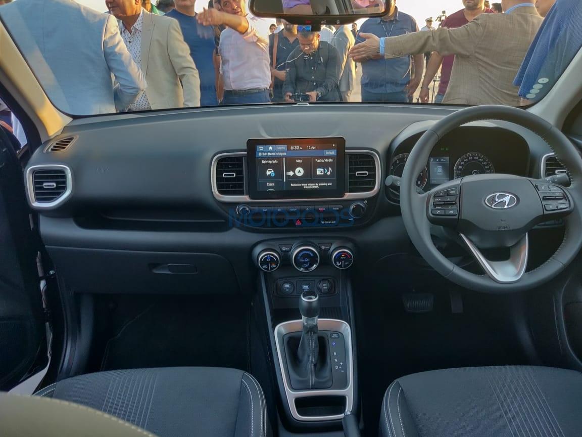 Hyundai Venue cabin and interior