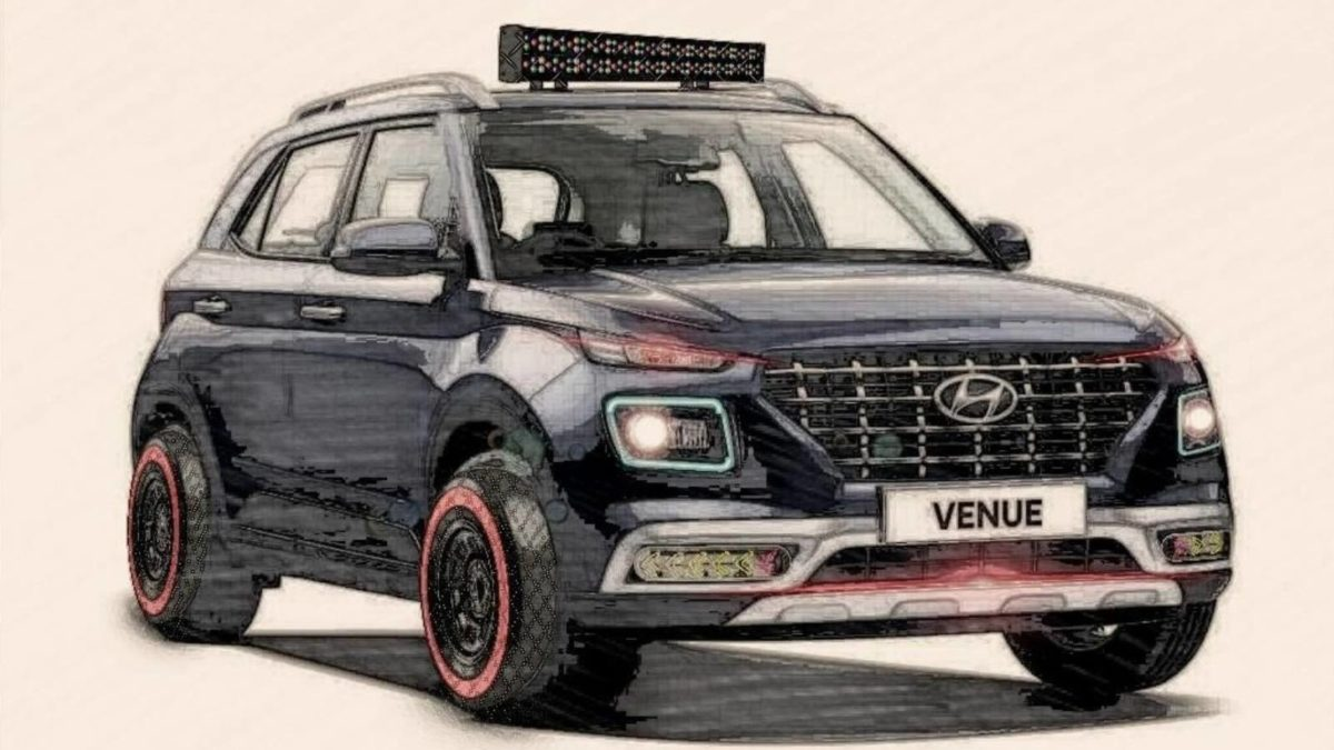 Hyundai Venue digitally modified