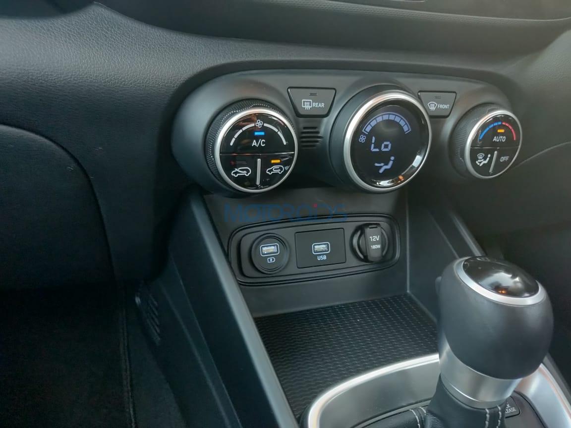 Hyundai Venue front charging sockets
