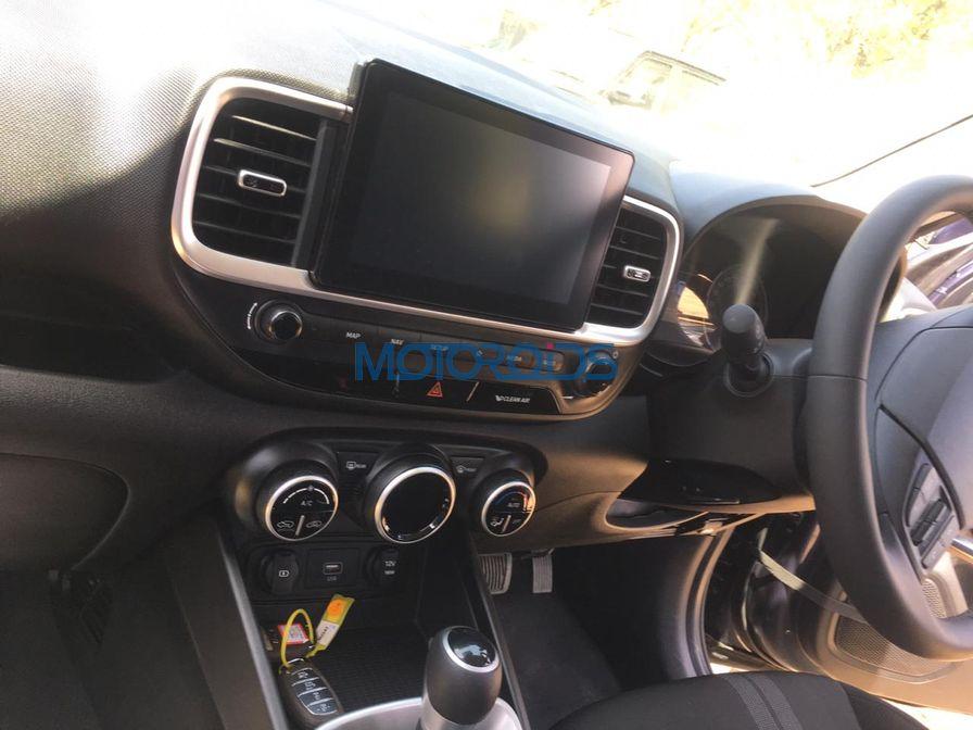 Hyundai Venue spied interior