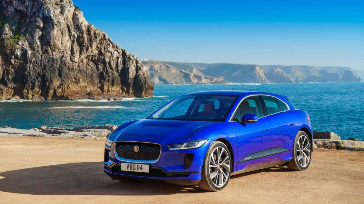 Jaguar I Pace front quarter blue