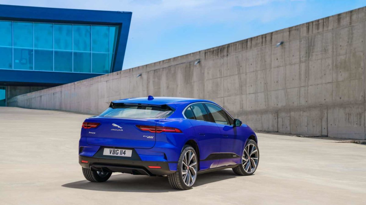 Jaguar I Pace rear quarter blue
