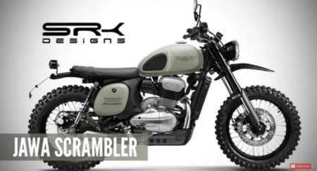 Jawa 42 Digitally Rendered As An Off-Road Ready Scrambler