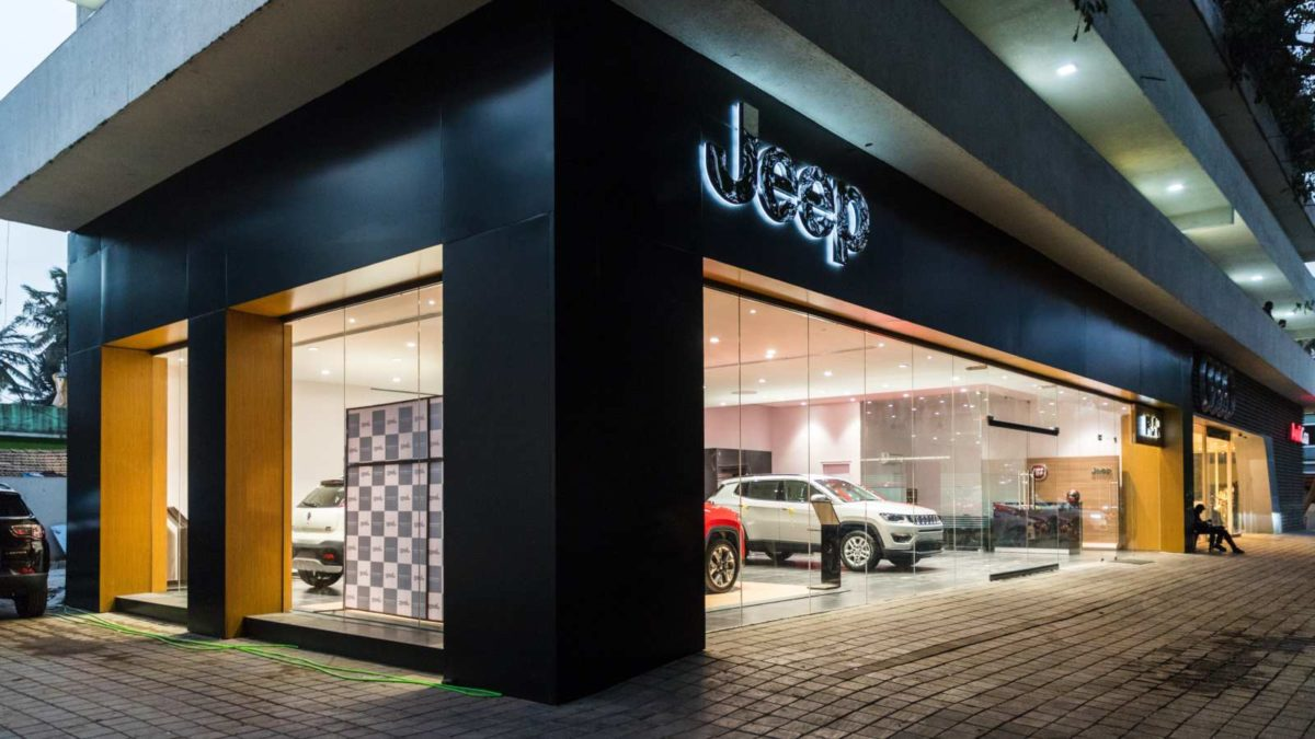 Jeep showroom corner
