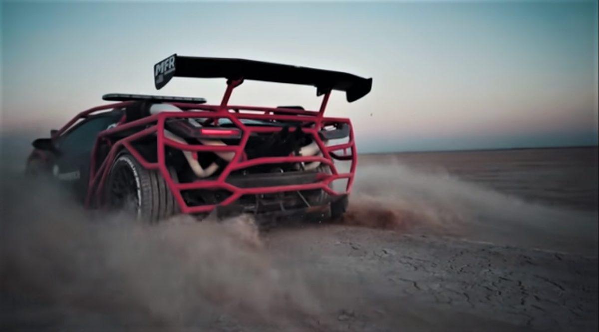 Lamborghini Huracan Rally Car Rear