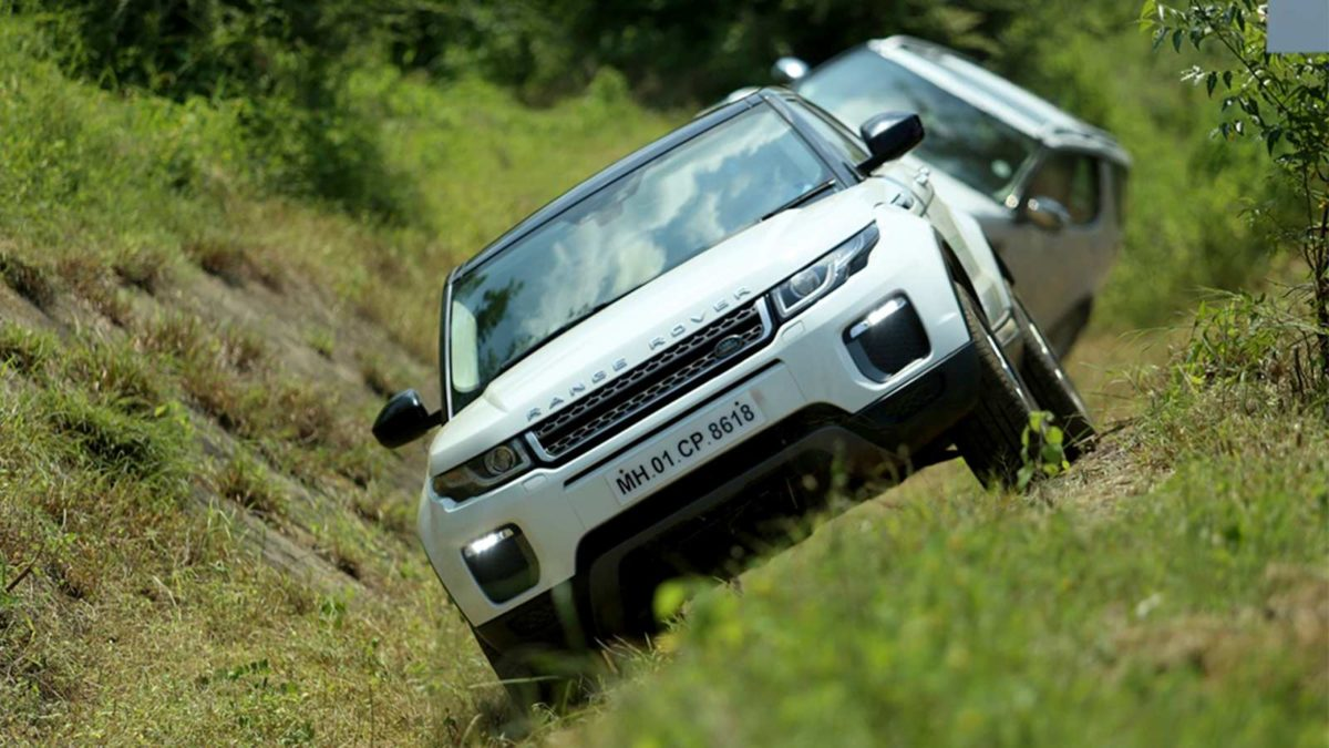 Land Rover Above and Beyond tour discovery inclined