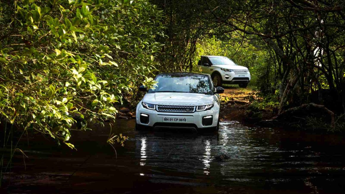 Land Rover Above and Beyond tour discovery sport wading