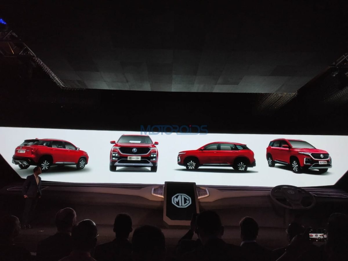 MG Hector Official Images all angles