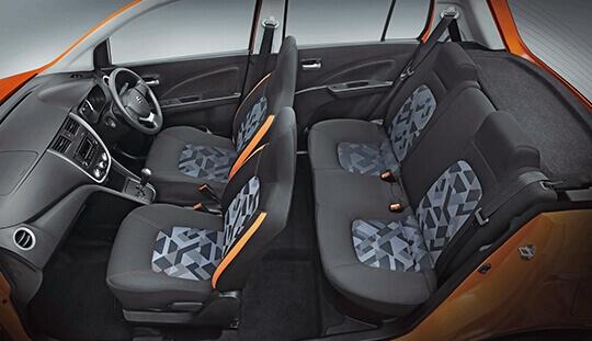 Maruti Suzuki Celerio X cabin and upholstery