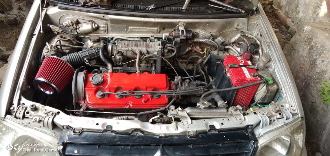 Maruti Zen Modified engine bay
