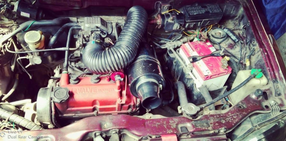Modified 200 kmh Maruti Alto engine bay