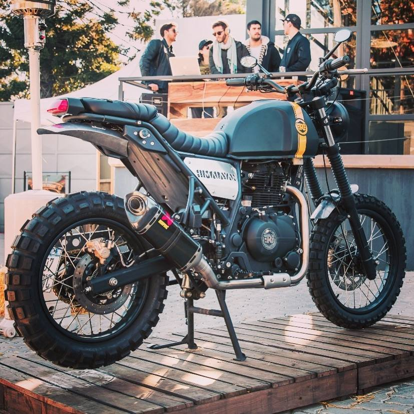 Modified Royal Enfield Himalayan By STG Tracker rear