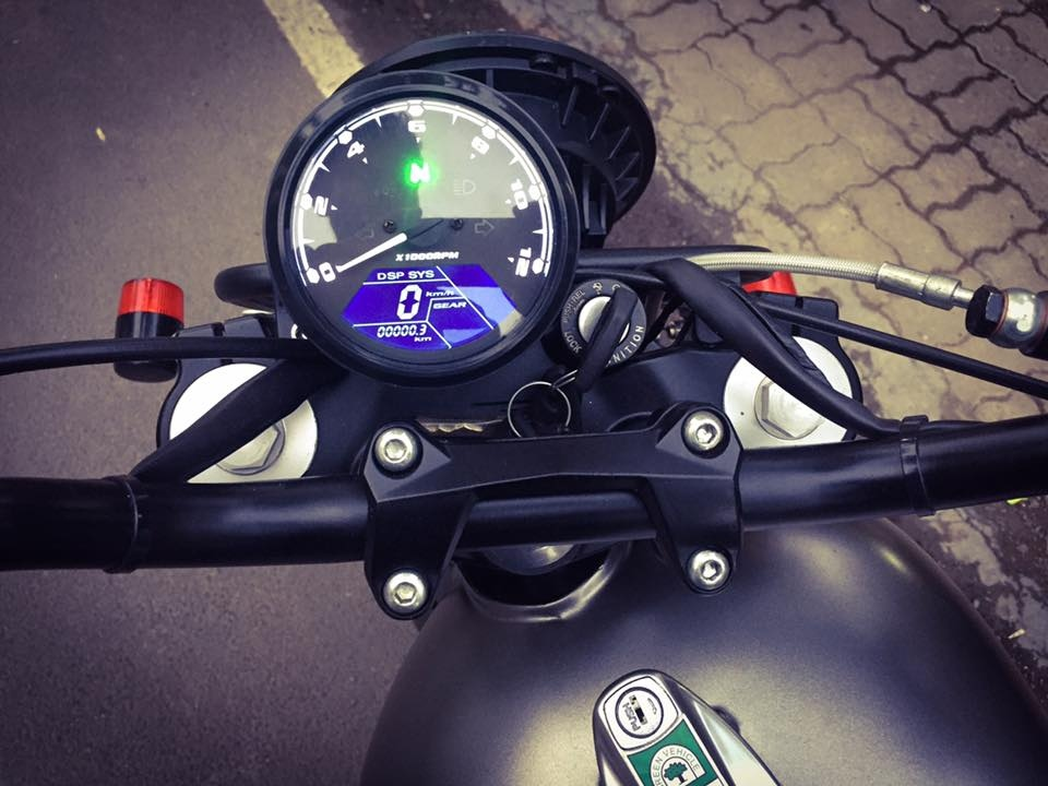 Modified Yamaha RD350 digital instrument dial