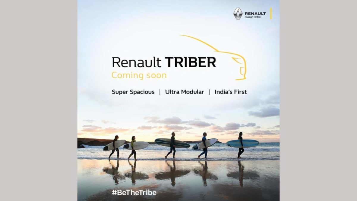 Renault Triber teased on Instagram
