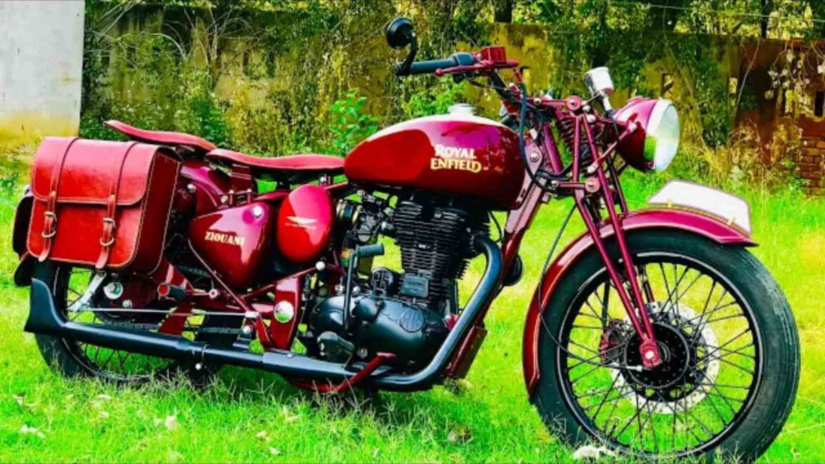 Royal Enfield Warld War 2 modified bike featured