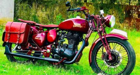 Royal Enfield Warld War 2 modified bike featured