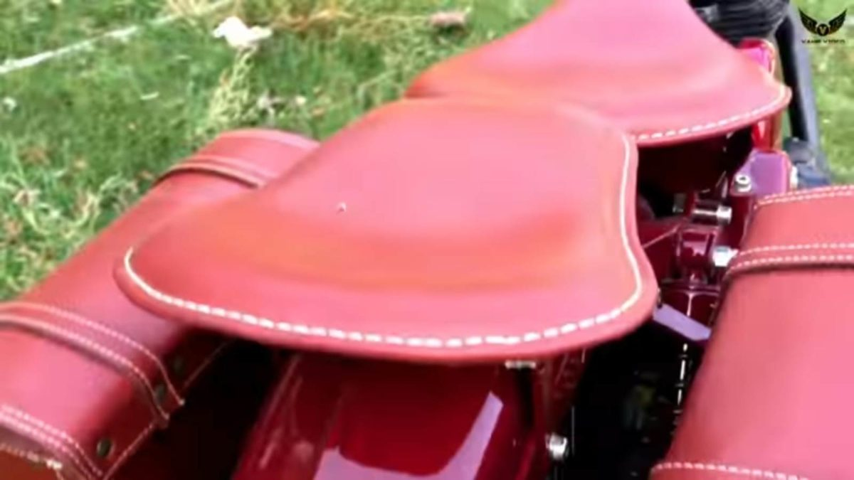 Royal Enfield Warld War 2 modified bike seats