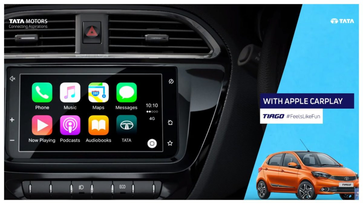 Tata Tiago Apple carplay