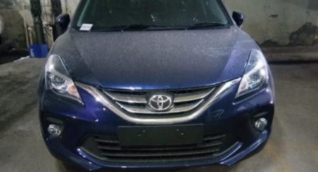 Toyota Glanza Spied front end featured