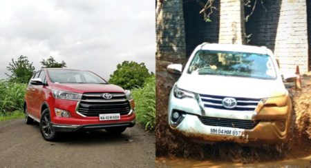 Toyota Innova and Fortuner