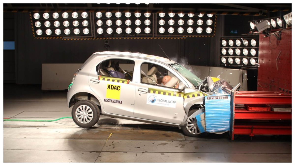 Toyota liva crash test