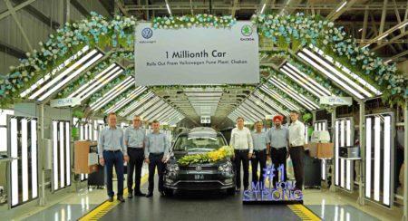 Volkswagen 1 millionth car at Pune Plant