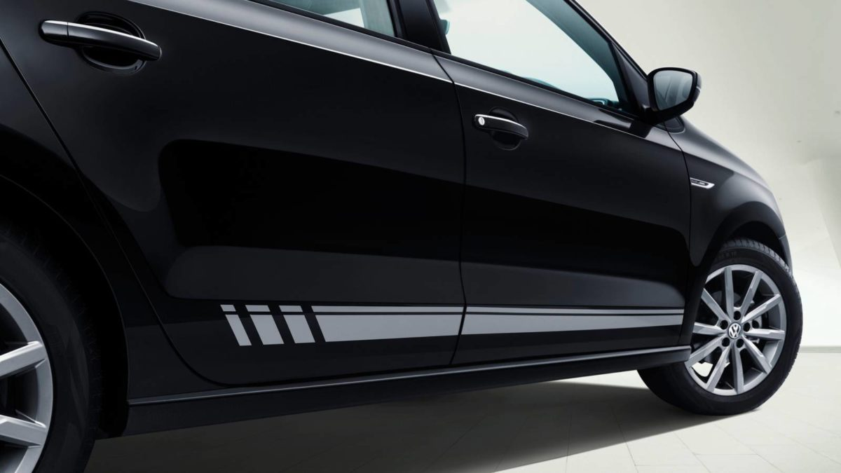 Volkswagen Black and White edition side sill