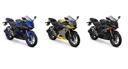 Yamaha R15 new colours collage