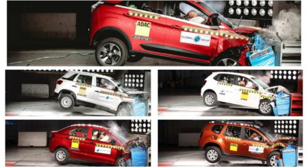 crash tests collage