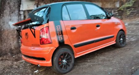 Modified Hyundai Santro Xing Wears A Wing Where The Wind Don't Sing