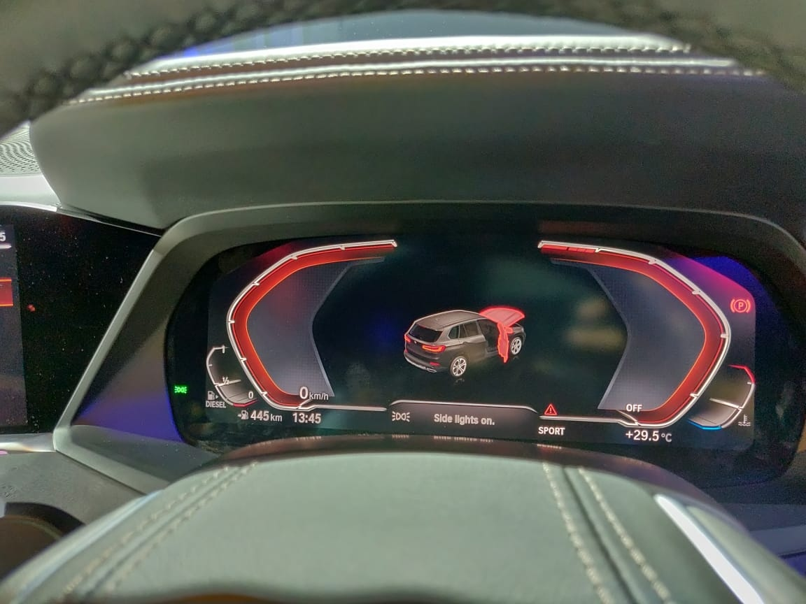 2019 BMW X5 INdia Launch instrument cluster