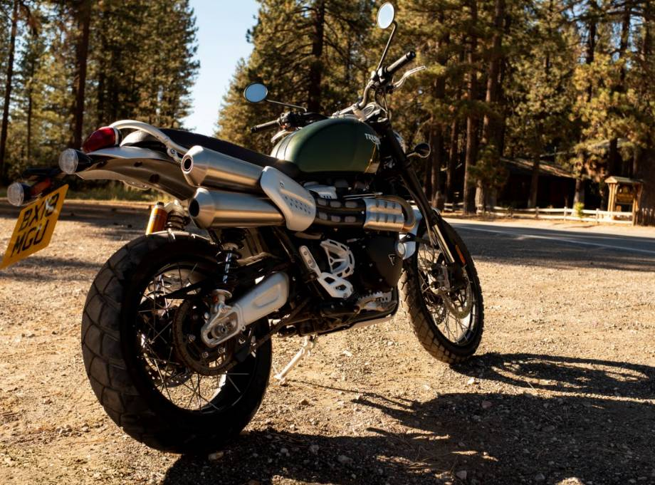 2019 Triumph Scrambler XC 1200 rear quarter low