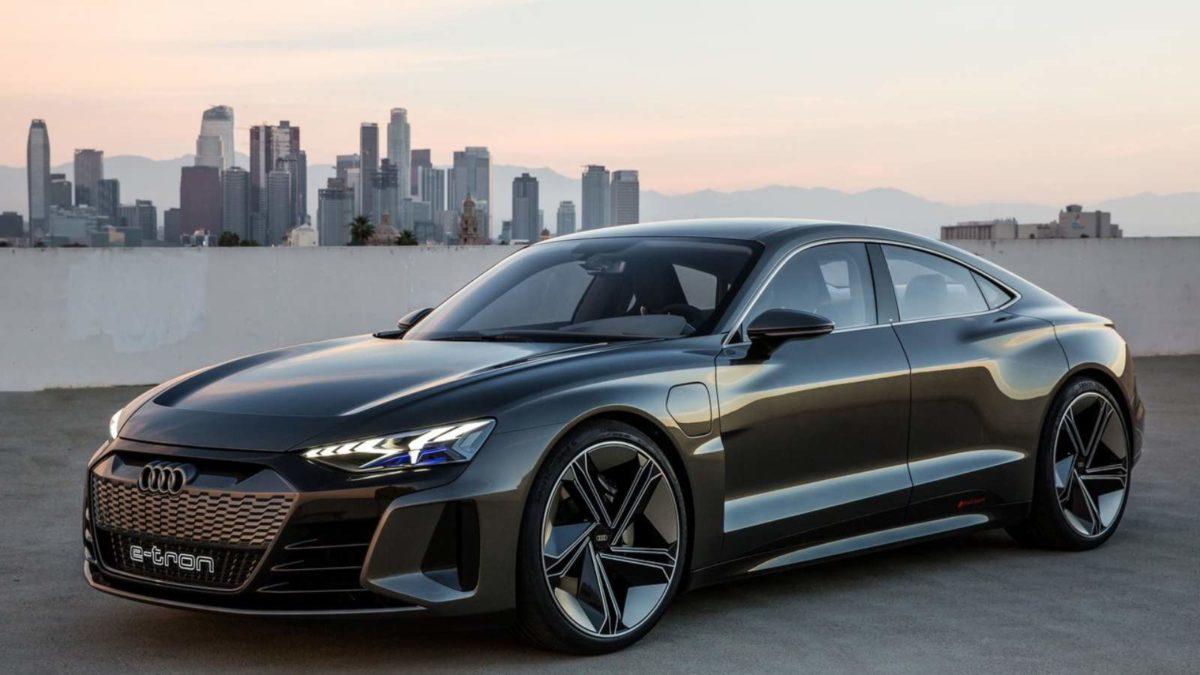 Audi E Tron GT exterior front quarter side