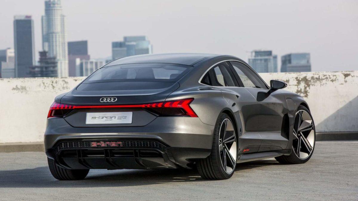 Audi E Tron GT exterior rear quarter
