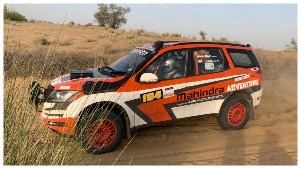 Chandigarh's Sunny Sidhu along with co driver Ashwin Naik in action during Day 2 of the Desert Storm in Bikaner
