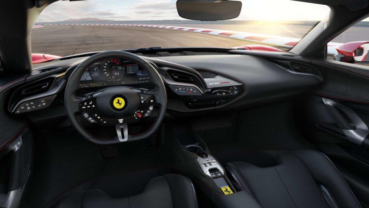 Ferrari SF90 Stradale interior dash
