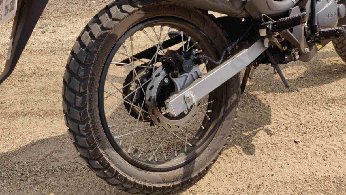 Hero Impulse 200 review rear disc brake