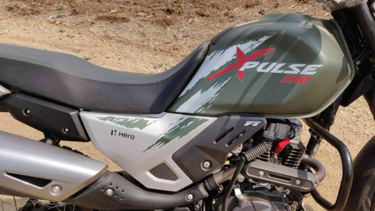 Hero Impulse 200 review tank side profile