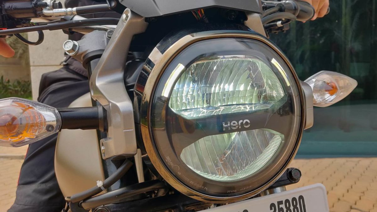 Hero Impulse 200T review LED headlight