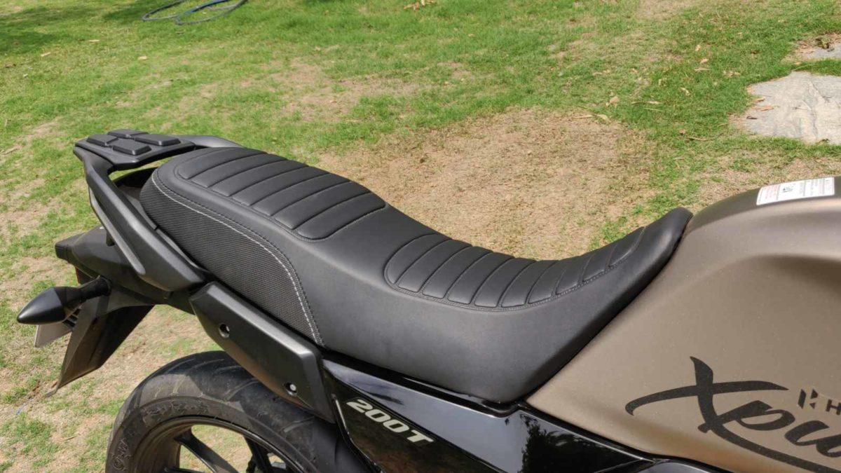 Hero Impulse 200T review seat